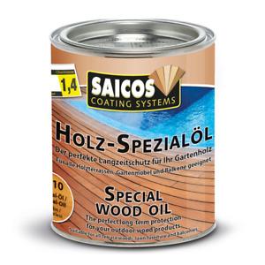 Saicos Holz-Spezialöl 750ml Holzschutz für Innen- und Außenbereich 0110 Farblos