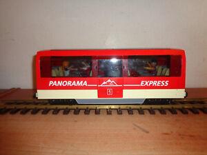 LGB/Playmobil  roter vierachser  Panorama Personenwagen