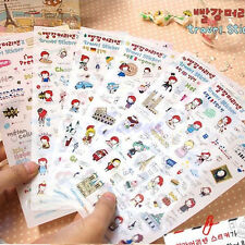 6 Sheets Lovely Anne's Travel Diary Scrapbook Decoration Photo Korean Stickers