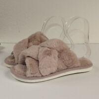 Damen Pantoffeln Hausschuhe Kunstpelz Freizeit Pantoletten Schuhe Hausschuhe