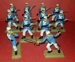 MARCHING FOREIGN FRENCH LEGION Set Argentina BRITAINS 1970 variant Toy Soldiers