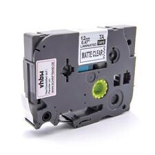 RUBAN CASSETTE noir 12mm pour Brother P-Touch 200/300/500/1000/2000/9000