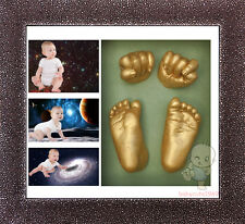 Baby Keepsake DIY 3D Casting Kit & Shadowbox photo frame   #5Gold Starry Sky