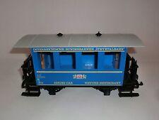 Lehmann LGB Railway 3013 Steyrtal Railway speisewaggon Car Blue Gauge G OVP V2
