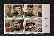 2000USA #3393-3396 33c Distinguished Soldiers - Copyright Block of 4 - Mint