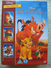 Disney The  Lion King  - DVD Box Set - New and Sealed  All 3 Movies