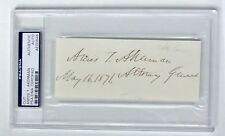 AMOS AKERMAN 31st U.S. Attorney General Confederate Col PSA/DNA AUTOGRAPH GRANT