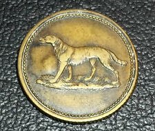 "URUGUAY C1900´S OLD RURAL TOKEN DOG VALUE 1 COUNTERMARKED ""P"", BRONZE DOG"