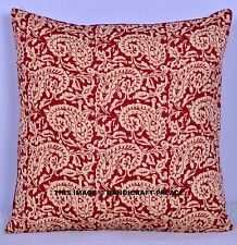 Indian Paisley Printed Cushion Cover Sofa Case Cotton Bohemian Sofa Decor 16""