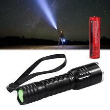 NEW Q5 LED light 1200LM Flashlight Torch Black + 18650 Rechargeable Battery BT