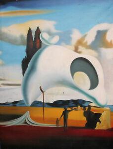 Surrealist Oil Painting Landscape Whale