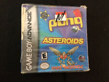 Pong/Asteroids/Yars' Revenge (Nintendo Game Boy Advance) Brand New: Box Has Wear