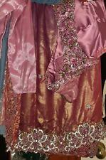 Saree Sari Pink Lavendar Cutwork Shimmer Diwali Eid Wedding Bridal