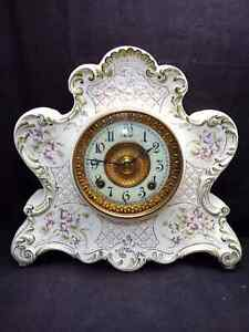 "Ansonia ""Dresden"" Porcelain Eight-Day Clock !"