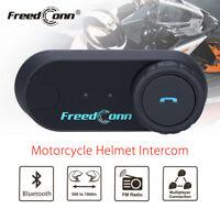 1km BT interphone bluetooth motorcycle Motorbike helmet intercom Headset