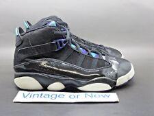 Nike Air Jordan Six 6 Rings Black Purple Teal Ps 2010 sz 2.5Y