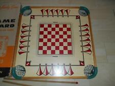 Old Vtg Genuine CARROM GAME BOARD 2 Sticks Wall Art Decor No Pieces Gameboard