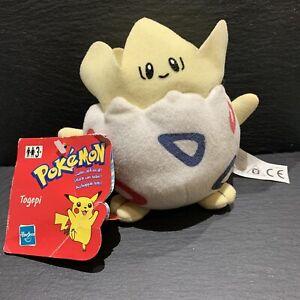 "Hasbro Pokémon Togepi Plushie Soft Toy    1999    6""    Nintendo    With Tags"