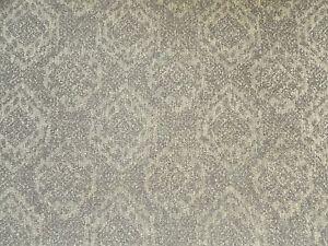 Sanderson Curtain / Upholstery Fabric SAVARY 0.85m Smoke - Textured Damask Weave