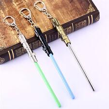 Hot STAR WARS Master Yoda Lightsaber Blade Key Chain Pendant Key Ring Movie Cos