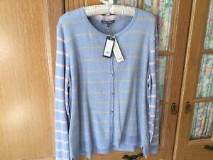 Laura Ashley Cardigan Size 20+ Cotton Blend With Cashmere BNWT RRP £60 Gt Colour