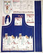 1997 Daisy Kingdom Peppermint Hill Apron Panel Sandi Gore-evans Oven Mitt