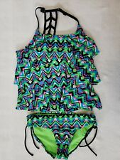 Justice Girls Chevron Takini Size 16 Excellent Used Condition