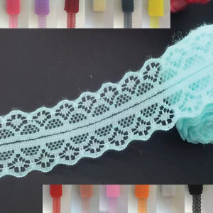 5yds (4.57m) Lace Ribbon 25mm Traditional Bilateral Trim craft sewing #734