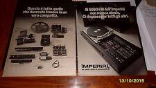Advertising Italian Pubblicità Werbung : IMPERIAL HI-FI **1977**