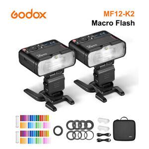 Godox MF12 MF12-K2 Macro Flash 2.4GHz Wireless Control TLL Speedlite Macro Light
