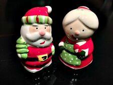 Mr. and Mrs. Santa Ceramic Salt n Pepper shaker set
