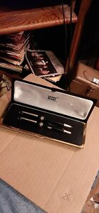 Montblanc Meisterstuck Gold-Coated Classique Ballpoint Pen & Pencil Set in Case