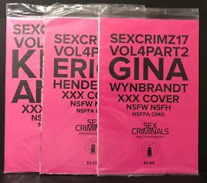 SEX CRIMINALS #17, 18, 21 XXX Covers ERICA HENDERSON Kris Anka Image Comics NM