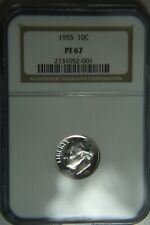 1955 Roosevelt Silver Proof Dime - NGC PF67