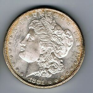 1881 S US USA Morgan Dollar silver coin : 26.7g