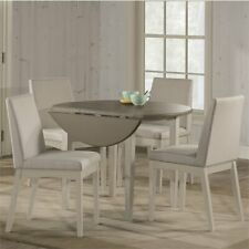 Hillsdale Clarion 5 Piece Round Extendable Upholstered Dining Set
