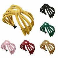 Women Headband Twist Hairband Bow Knot Cross Tie Cloth Headwrap Hair Band Hoop,