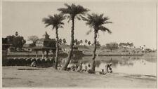 c.1910s PHOTO  - INDIA TANNER SHER SHAH'S TANK SASSARAM