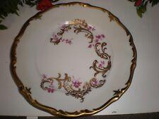 Reichenbach 1 Kuchenteller mit Blütendekor und Goldrand