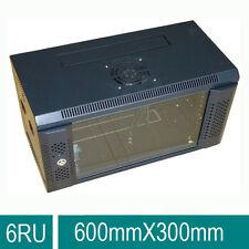 "6U 6RU 19"" 19 Inch Wall Mount Server Rack Cabinet for Networking 300mm Deep"
