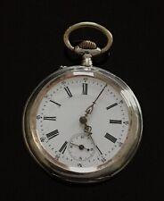 Antique Victoria, Cortebert Solid Silver Pocket Watch c.1900  / montre gousset