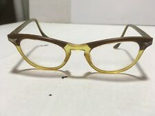 VINTAGE RETRO STYLE 1960's MARINE 5 3/4 Clear Lens EYE GLASSES BROWN AMBER FRAME