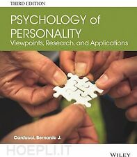 Psychology of Personality (3rd ed.) by Bernardo J. Carducci. Excellent condition