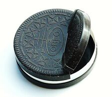 Nabisco1998 Oreo cookie container Holder Flip Top Holds 6 Oreos 4in dia U S A