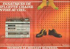 Publicité 1998 ( Double page )  TECHNICS chaine Z65 ampli tuner cassette platine