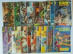 Lot of 21 Gold Key Comics Turok Son of Stone, Tarzan, Korak Son of Tarzan