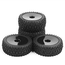 1:10 Off-Road Ruber 4Pcs Front Rear Tires Wheel Rim 25026+27011 HPI RC Buggy Car