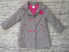 Al & Ray Girls Size 5/6 Herringbone Print Jacket Coat w/ Pink Details