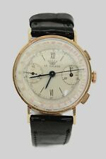 Rare chronographe Le Salève en or,swiss made, 1950./ Breitling,Longines,