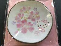 Hello Kitty Sakura Cherry Blossoms Small Dish Plate Face MADE IN JAPAN